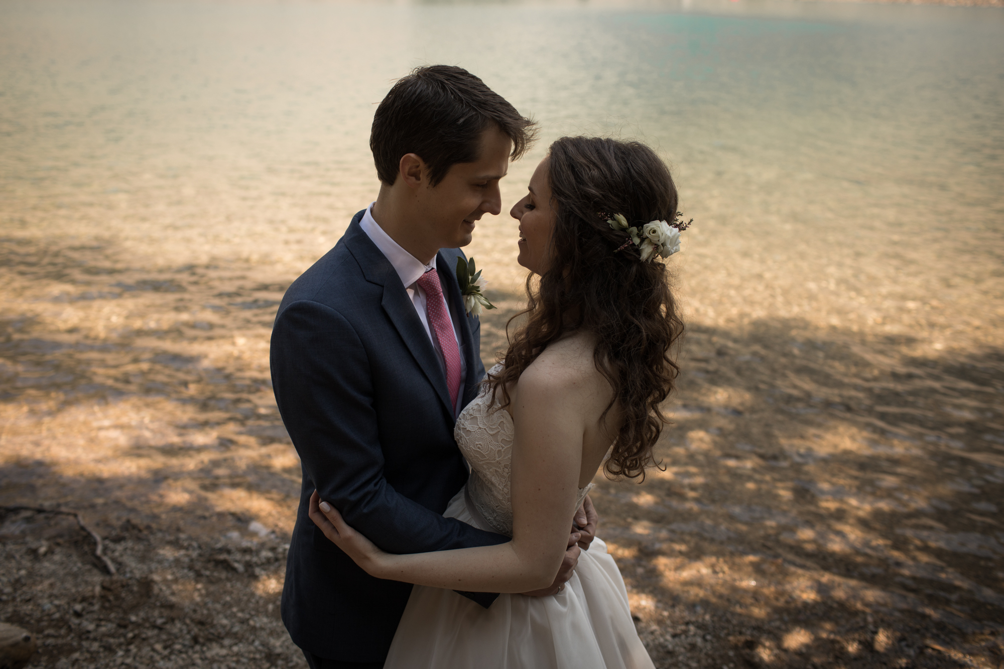 Pretty lake wedding