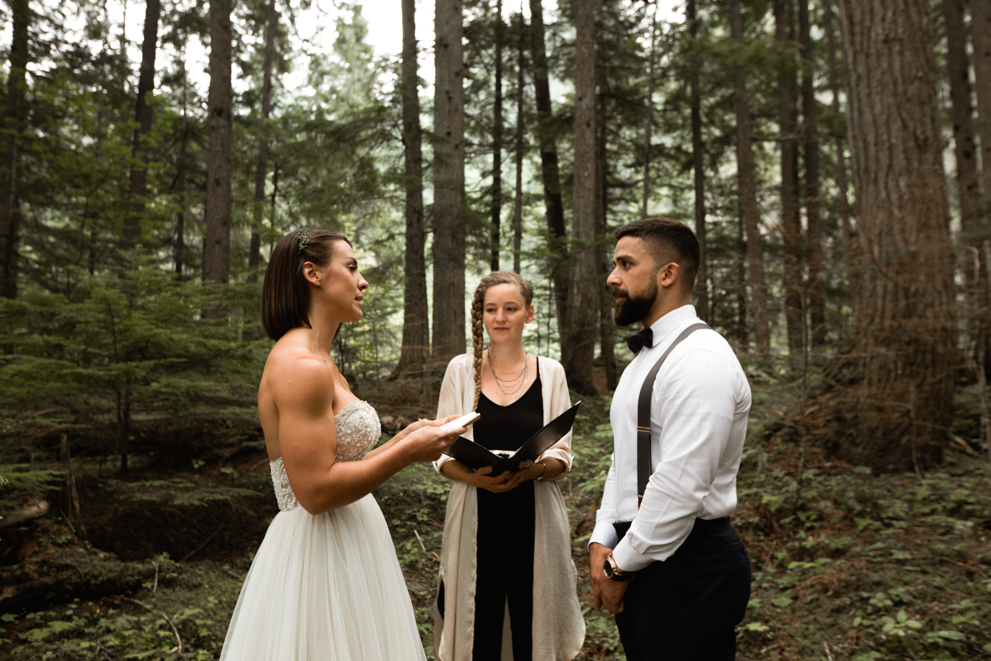 elopement ceremony in BC forest