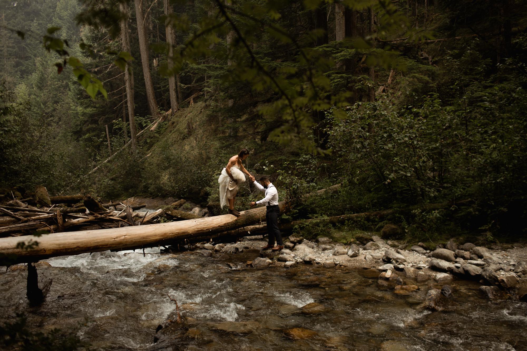 Revelstoke BC Waterfall Elopement