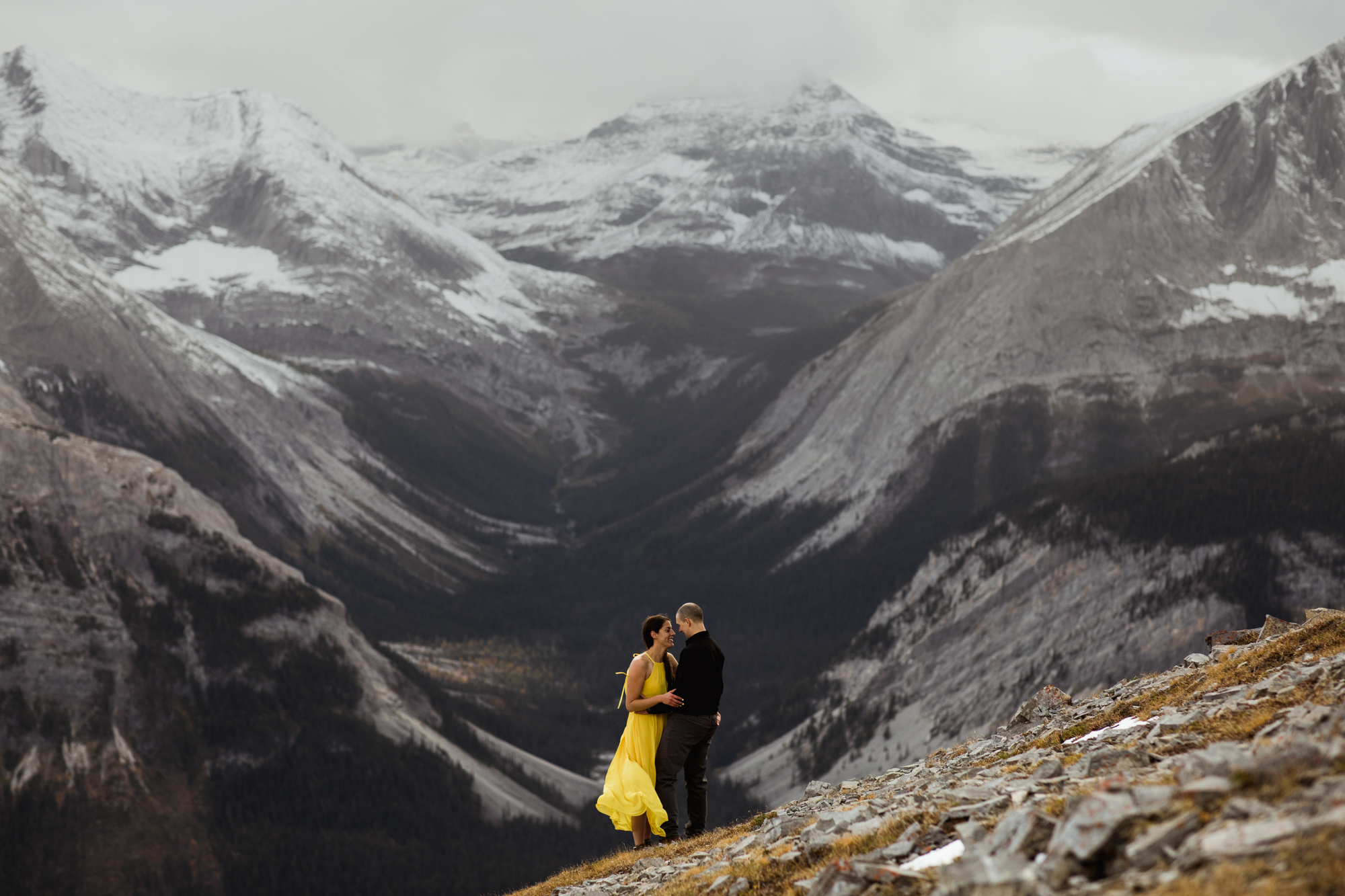Kananaskis Engagement Photography - Willow and Wolf Photography