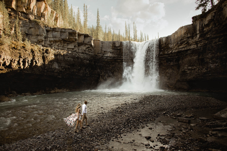 Abraham Lake Engagement Photography