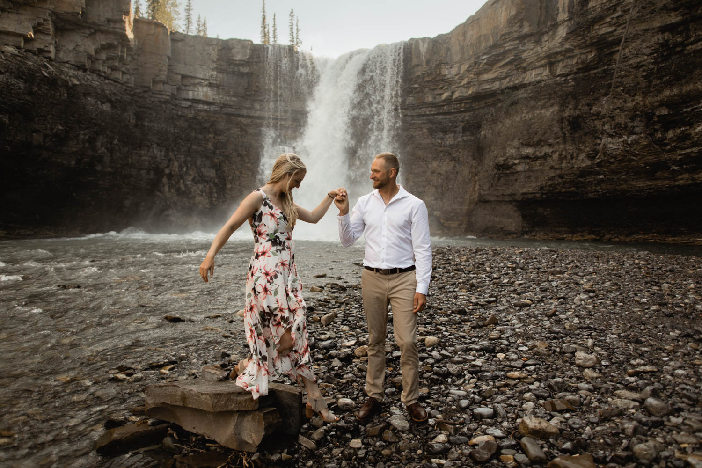 crescent falls Engagement Photography
