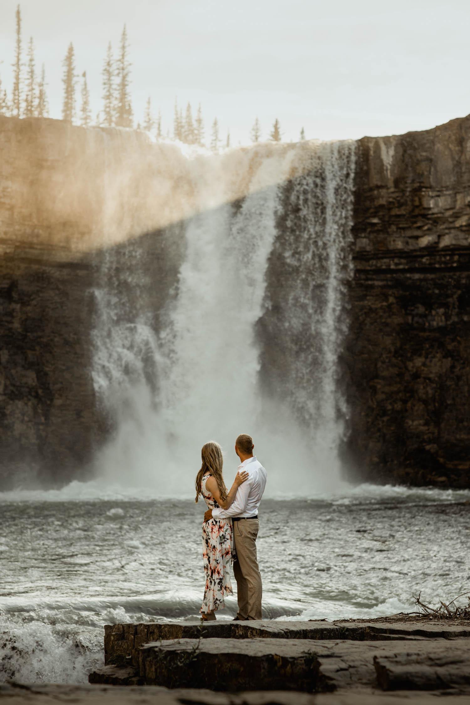 Abraham Lake Engagement Photography -crescent falls Engagement Photography