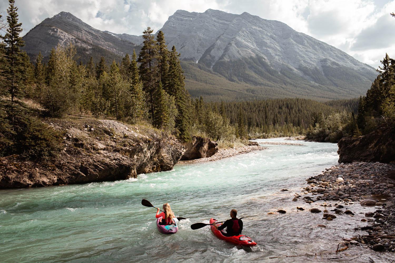 kayaking engagement session