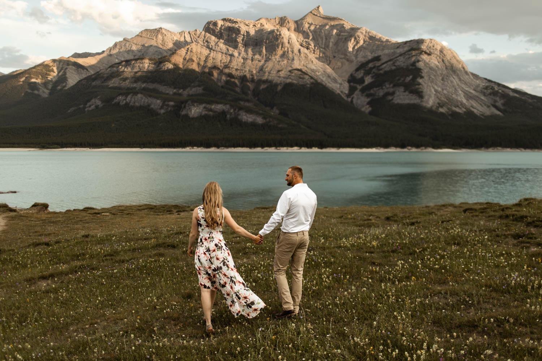 Abraham Lake Sunset Engagement Photography