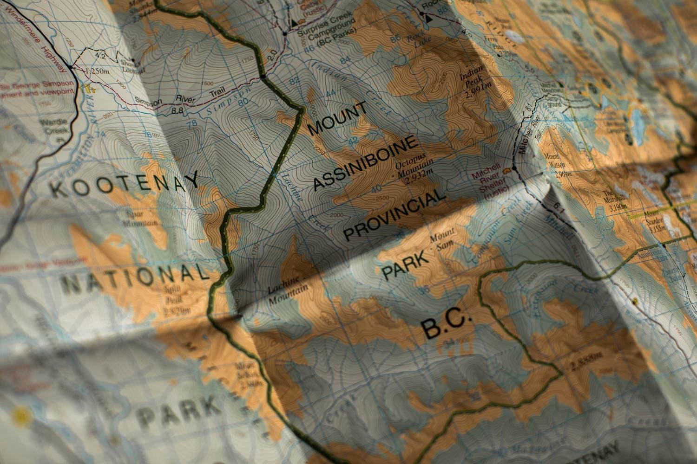Mt Assiniboine Map
