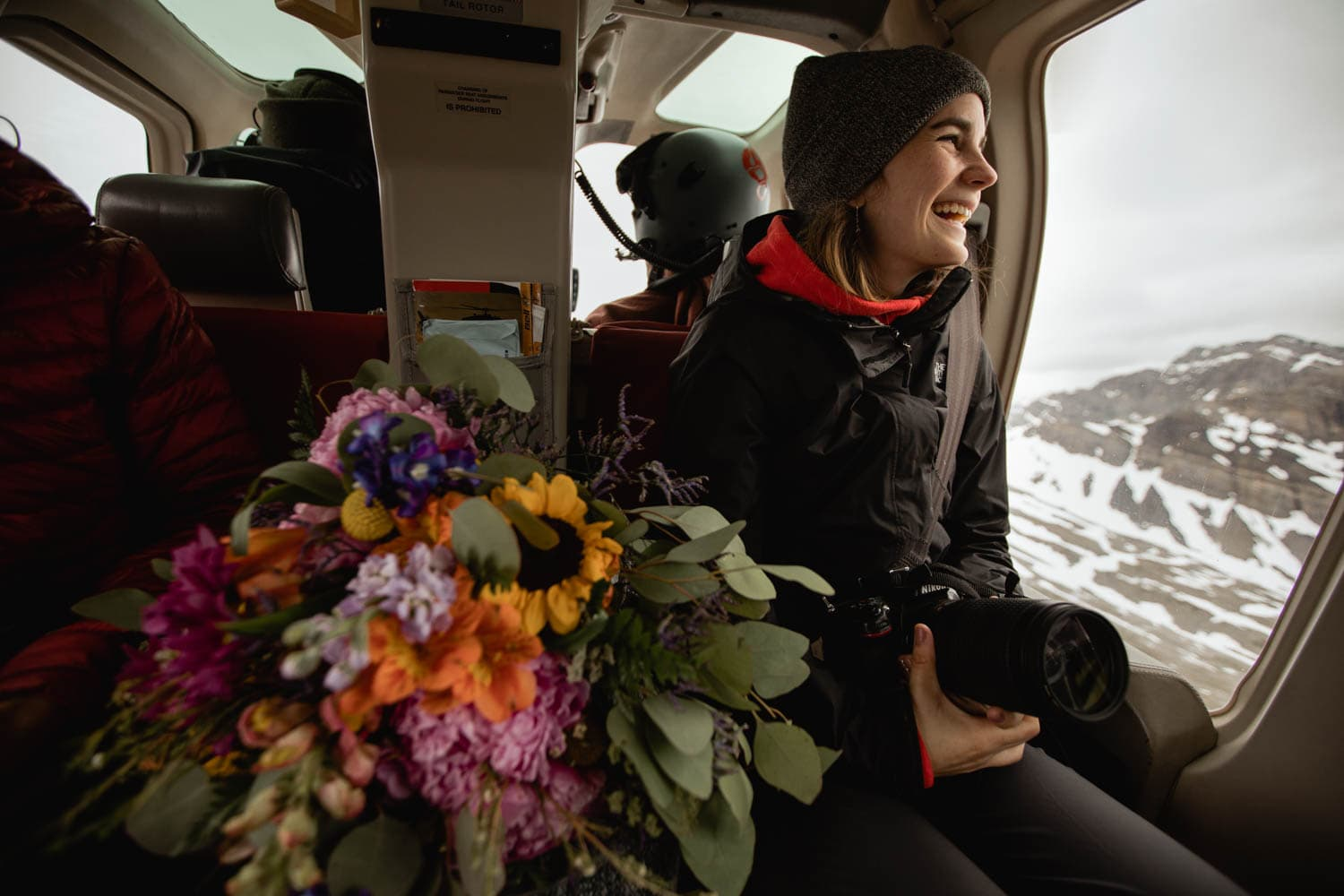 Bride in Helicopter