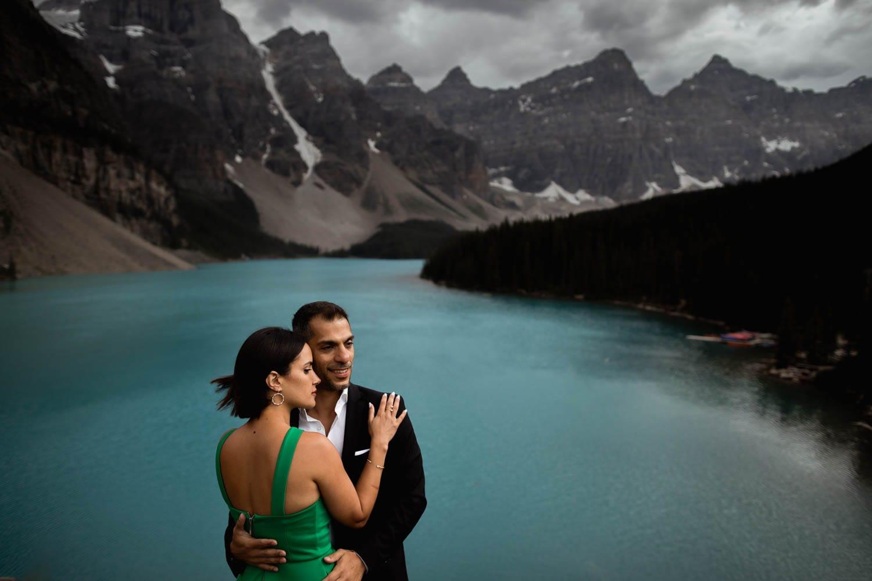 Moraine Lake Engagement Photographers