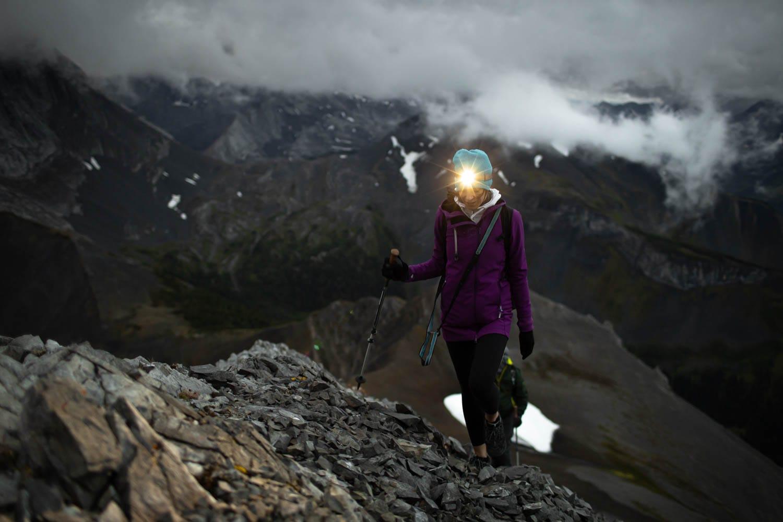 hiking with headlamp
