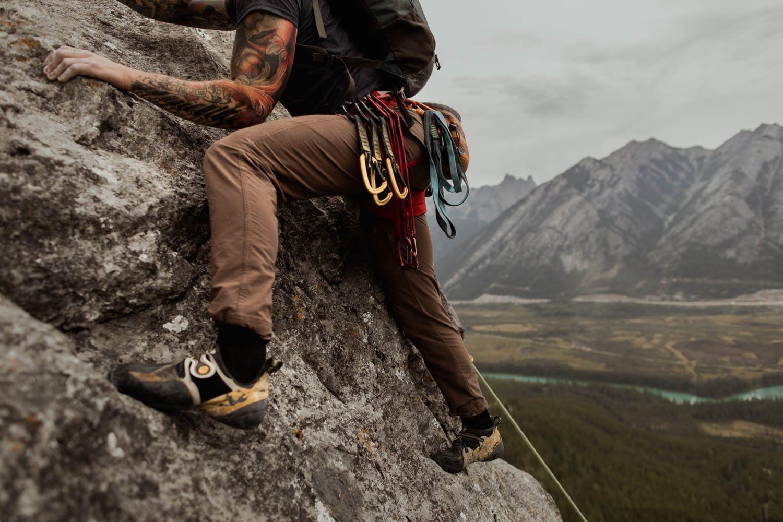 Banff Climbing Elopement Photographers Groom