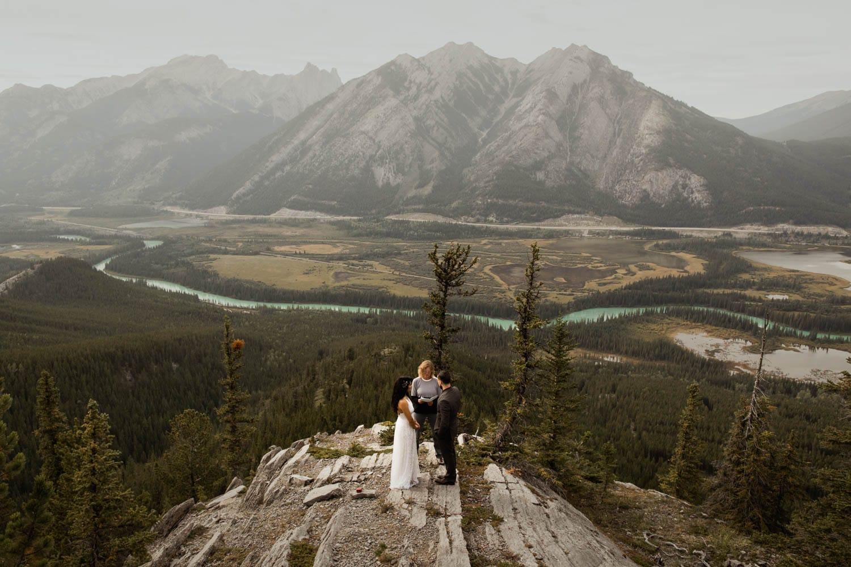 Banff wedding ceremony
