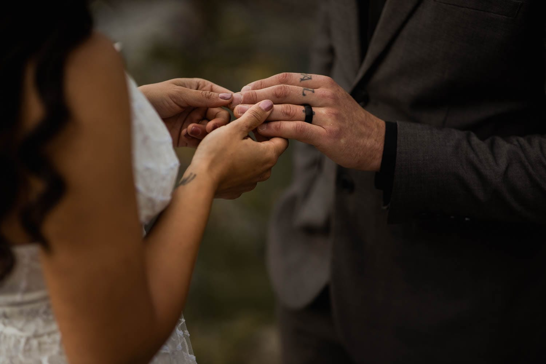 exchanging rings close up