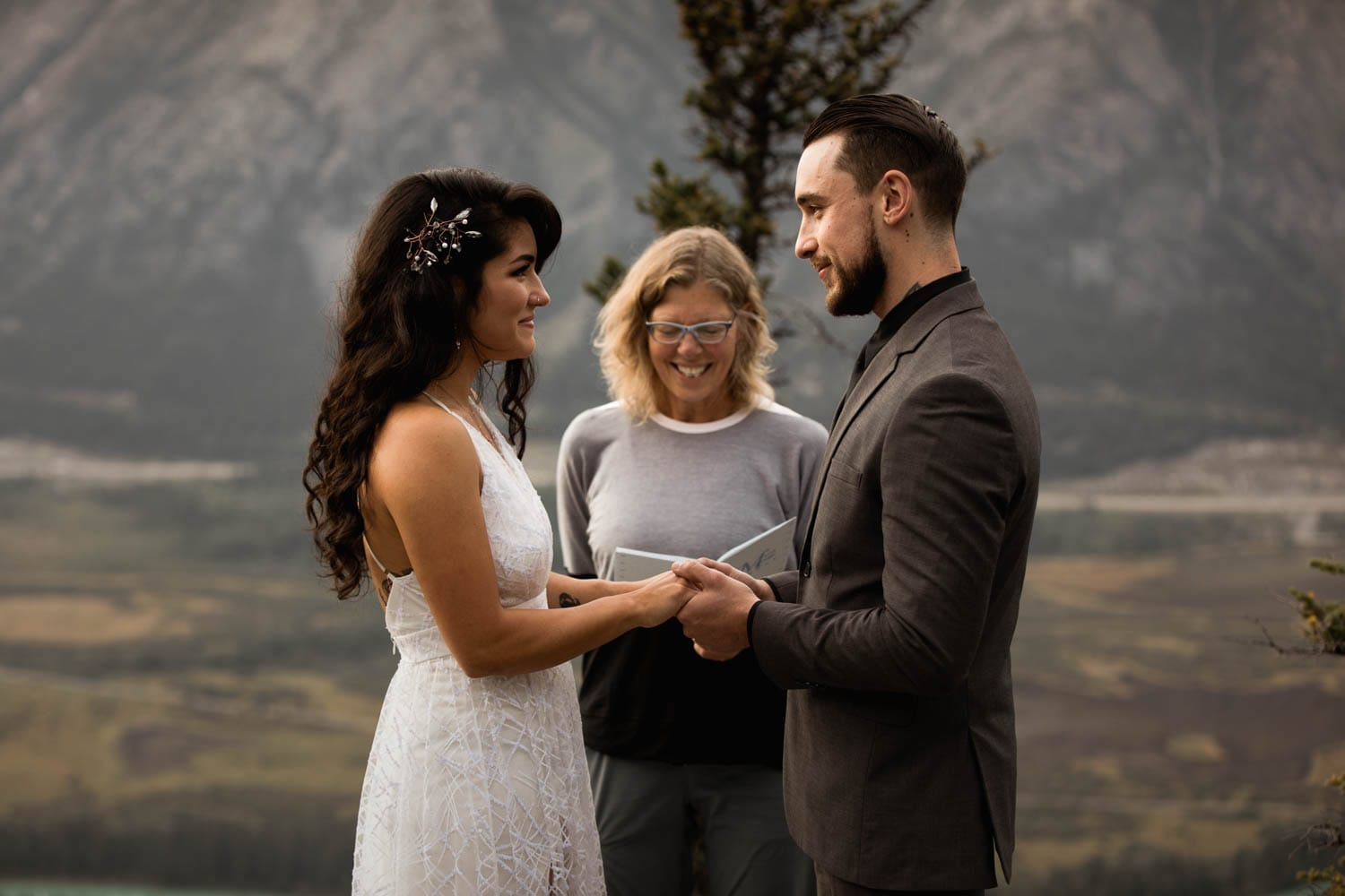 Banff mountain top ceremony