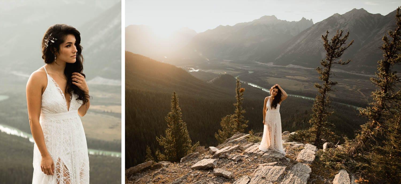 Banff Elopement bride portraits