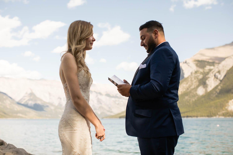 Lake Minnewanka Elopement Banff