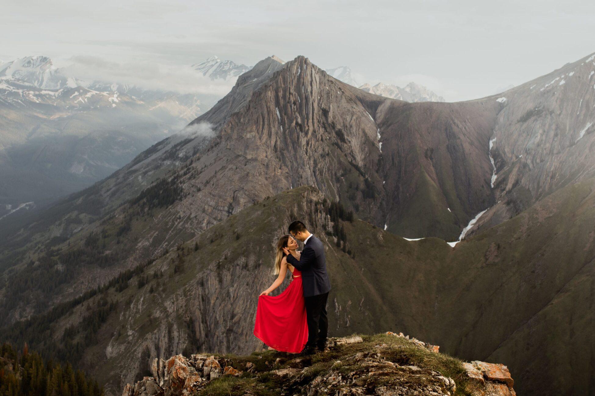 Kananaskis Hiking Engagement Photos