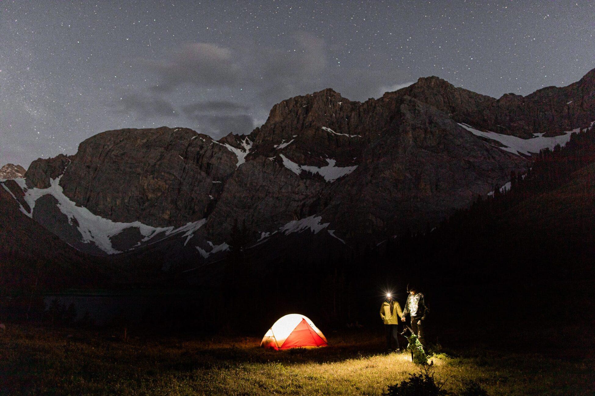 backcountry camping elopement in kananaskis