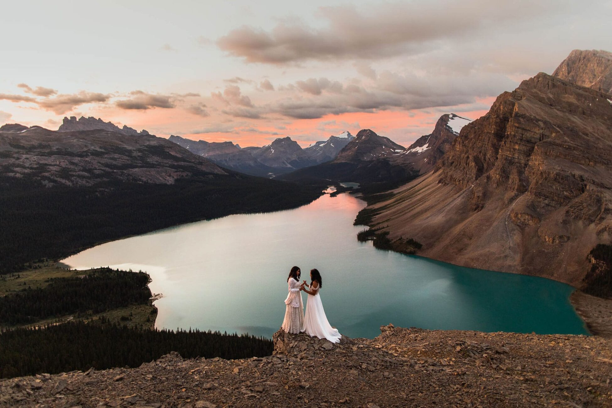 Hiking Wedding Photographers in Banff National Park