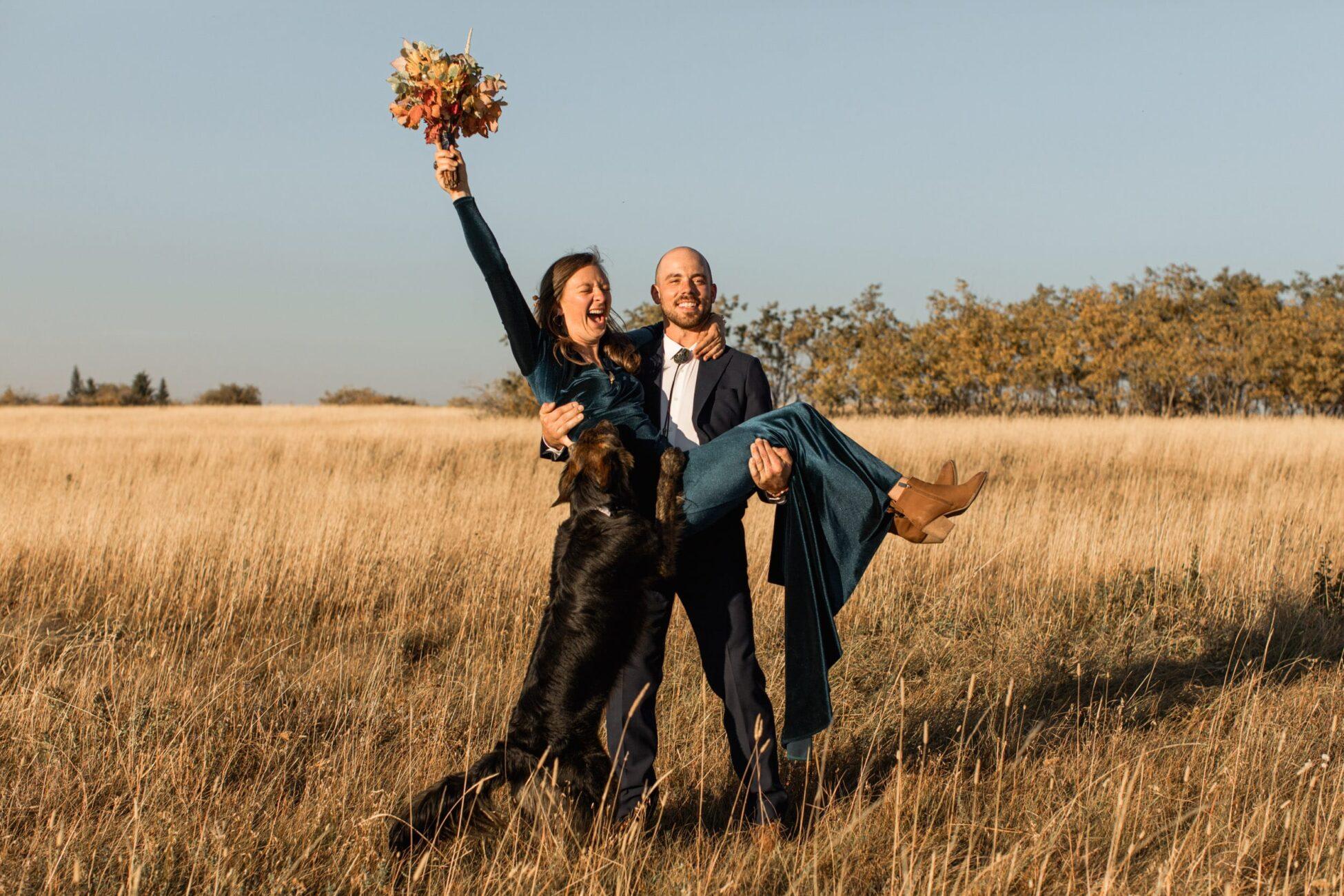 southern alberta fall wedding