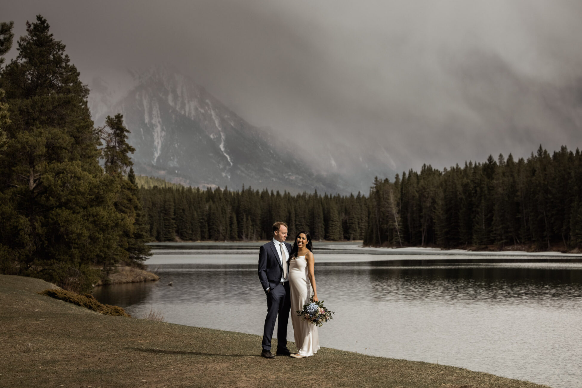 stormy elopement in banff national park