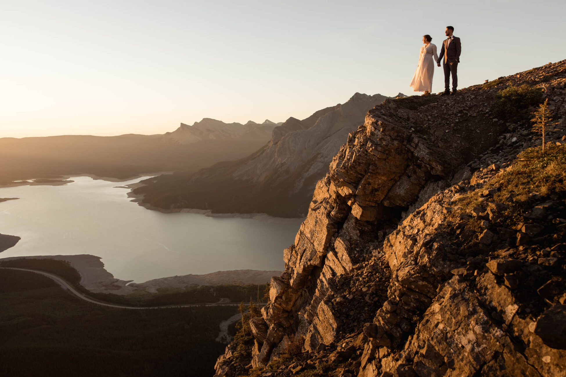 camping elopement in the rocky mountains